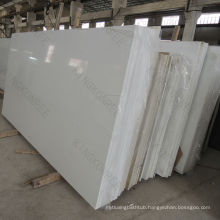 White Artificial Crystallized Glass Quartz Slab ,pearl white quartz slab