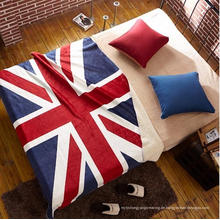 100% Polyester Korallen Fleece UK Flagge Design Baby Decke