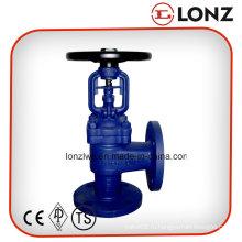 Литой стали WCB DIN Угловой герметичный клапан