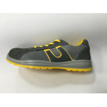 Work Safety Footwear with Upper Suede Leather and Mesh Sole PU