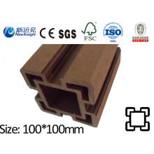 100X100 WPC Post com SGS CE Fsc ISO WPC Cerca Madeira Plástico Composto Post Fence Lhma069