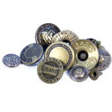 Custom Engrave 3D Name Logo Metal Buttons for Garment Accessories