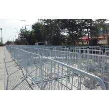 Barrière de contrôle de la foule de la police / barrière de Met Clôture temporaire