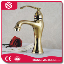 antique single handle golden bathroom faucet