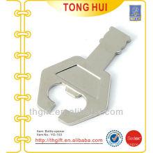Outil de bouteille en forme de clé métallique / clé avec logo vierge