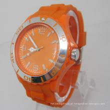 Relógio de forma plástico novo do movimento de Japão da proteção ambiental Sj073-3