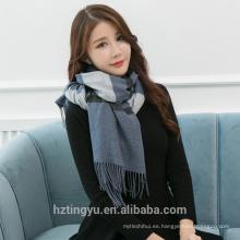El mejor mantón viscoso caliente del invierno del material bufanda pashmina y mantón 100% funkly