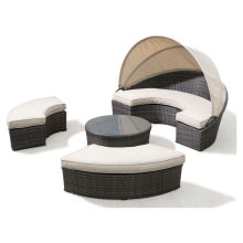 Сад ротанга патио отеля мебель Открытый плетеная набор кушетка
