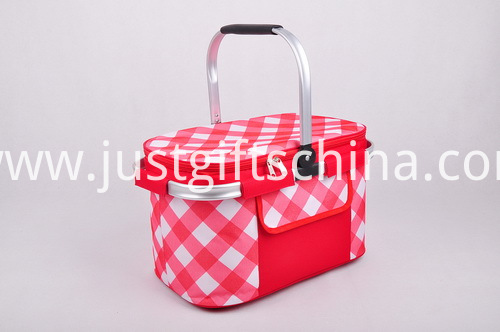 Promotional Quality Basket Coolers - 1 Padded ALuminum Handle (2)