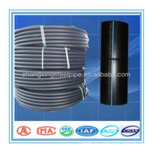 Konkurrenzfähiger Preis PE100 schwarzes Rohr mit blauen Streifen HDPE-Rohr für die Wasserversorgung