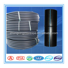 Competitive price PE100 black pipe with blue strip HDPE Pipe for water supply