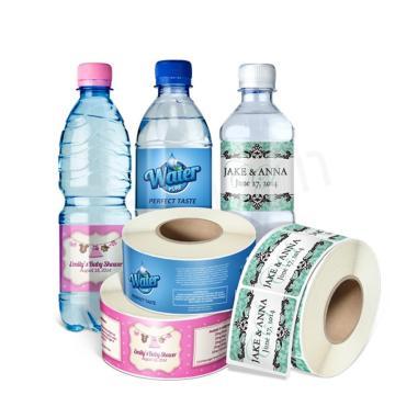 Customized Plastic Water Bottle Adhesive Label Sticker