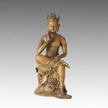 Statue de Bouddha Avalokitesvara Bronze Sculpture Tpfx-B42
