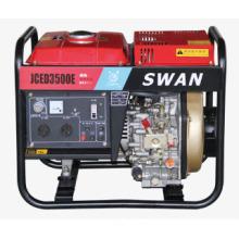 3kw Electric Start Open Portable Diesel Generator (JCED3500E)