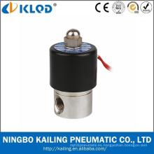 Válvula solenoide del control de agua del acero inoxidable de la alta calidad de los tipos 2wb 24V
