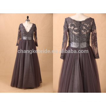 оптовые женщина дешевые муслина с длинным рукавом плюс Размер вечернее платье