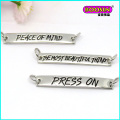 Fashion Custom Metal Alloy Engraved Bar Charm Necklace