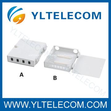4 portas 8 Porto FTTH caixa de terminação óptica de fibra