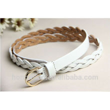 hot sell lady's braided pu leather belt