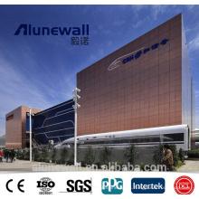 Panel compuesto de aluminio de cobre marrón de Alunewall 3 mm / 4 mm ACP / CCP para revestimiento de paredes interiores / exteriores