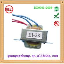 Transformador eléctrico del certificado EI-28 CQC 220V 9V 100mA
