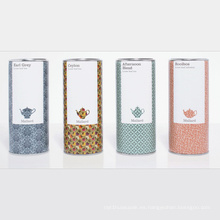 Caja caliente del empaquetado del té del tubo de la venta