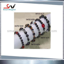 Cheap Price customized ferrite /hematite Magnetic bracelets