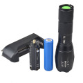 Imperméable à l'eau Glow In The Dark G700 E17 Type Bicycle Zoomable Latern Light Light et 9 LED Rear Light Set