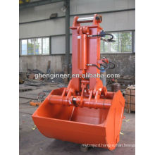 Electric hydraulic clamshell excavator grab bucket