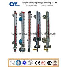 Hochwertiges Cyybm63 Magnetisches Füllstandsmessgerät für kryogene Tanks mit