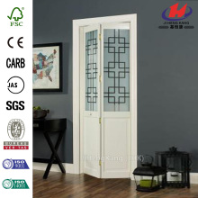 Geometric Glass Pine Interior Bi-fold Door