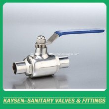 DIN Hygienic Two Way Ball Valve Weld End