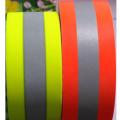 флуоресцентная красная серебряная огнезащитная светоотражающая лента с хлопковой подложкой