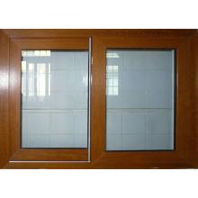 Fenêtre coulissante en aluminium à double ouverture