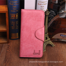 bi-folding sweet girl with button leather best slim wallet