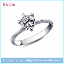 Neue Produkte 2016 hart silber grau Metall 925 Sterling Silber Schmuck Hochzeit Silber Schmuck 925 natürlichen Ringe