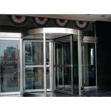 Sistema de porta giratória de vidro completo