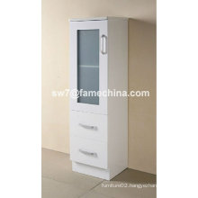 2012 Hot Sell High Glossy White MDF Bathroom Storage Cabinet