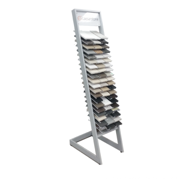 Einfache Design Bodenbelag Eisen Keramik Fliesen Show Stand, Granit Stein Probe Metall Display Stand