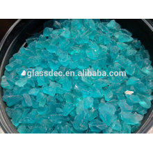 Slag Glass Rock in metal mesh cage