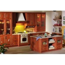 Devon Gabinete de cocina de madera maciza empotrable (crema)
