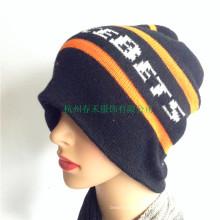 Invierno 100% sombrero de acrílico mujeres hechas punto Beanie Nuevo sombrero de esquí de invierno de invierno Hat sombrero Slouchy