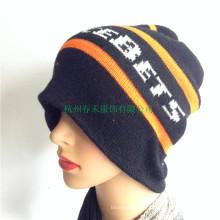 Зимняя 100% акриловая шляпа женщин вязаные шапочки Новая мода зимних лыжных Hat черепа шапка Slouchy Hat