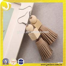 Китай Поставщик Свадебные платья Прекрасная деревянная серьга