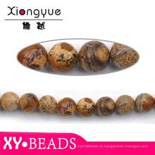 Perles de Pierre d'yiwu Pierre naturel en vrac