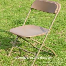 Chaise pliante en plastique métallique STACKABLE en gros à bas prix