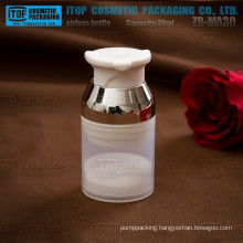 ZB-MA30 30ml special pump and cap design pp plastic small biodegradable plastic cosmetic container