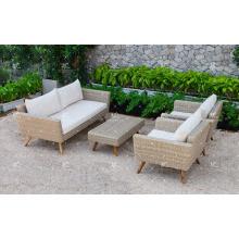 Top Selling PE Rattan Sofa Set Für Outdoor Garten Oder Wohnzimmer