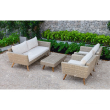 Top Selling PE Rattan Sofa Set For Outdoor Garden Or Living Room