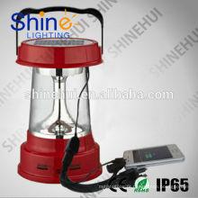 Preço competitivo 3W pequeno solar portátil LED com carregador de telefone móvel